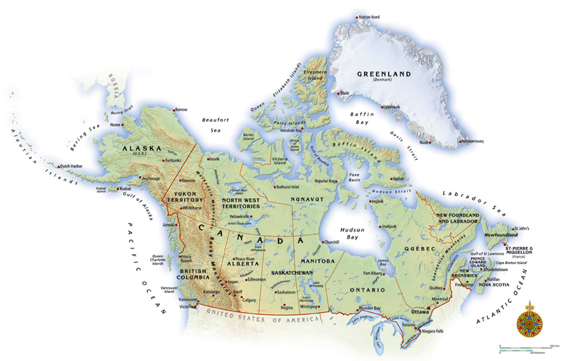 Map Illustrations Political Maps Showing The Structure Of The - Political canada map