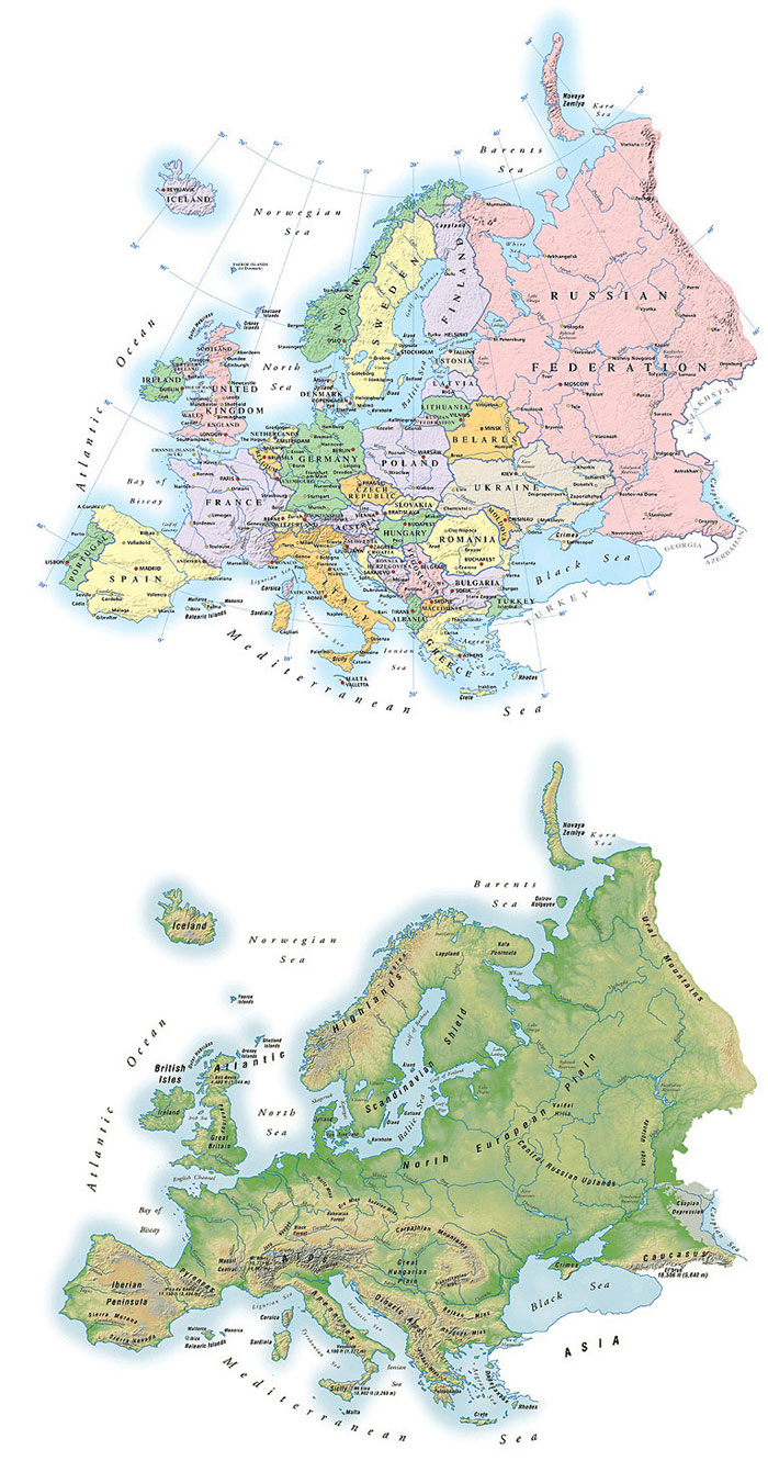 Map Illustrations Political Maps Showing The Structure Of The