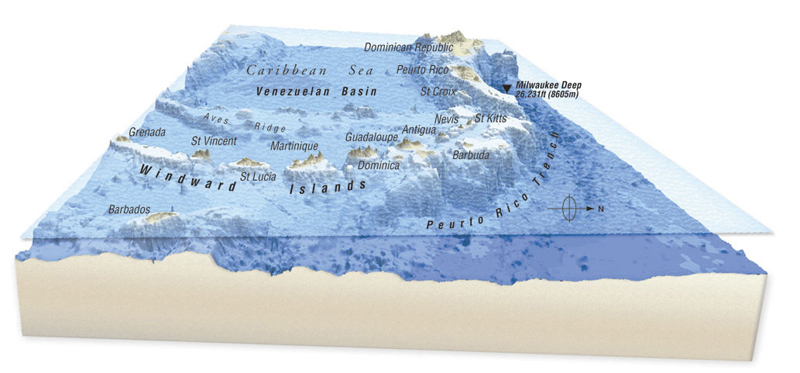 Windward islands map The windward